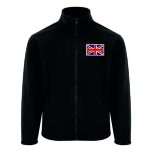 Saru Embroidery Fleece Black